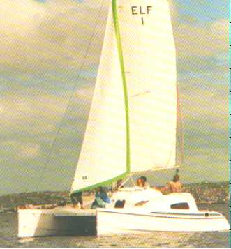 The prototype Elf sailing in Plymouth