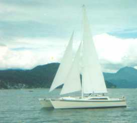 Canadian Meander under sail
